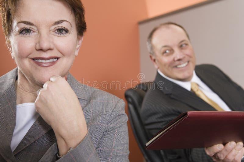 le för affärskvinna royaltyfria bilder
