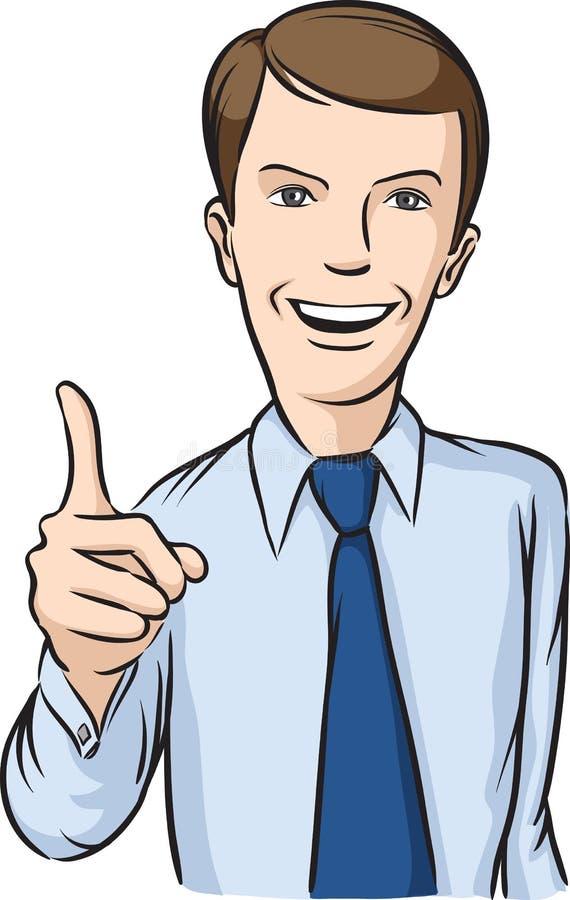le för affärsmanhandtecken royaltyfri illustrationer