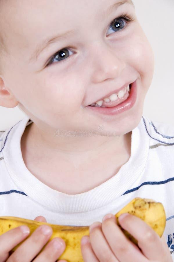 le för bananpojke fotografering för bildbyråer