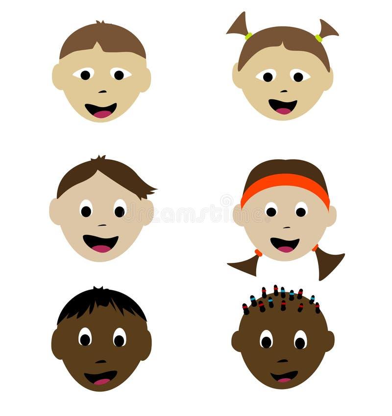 le för barn vektor illustrationer