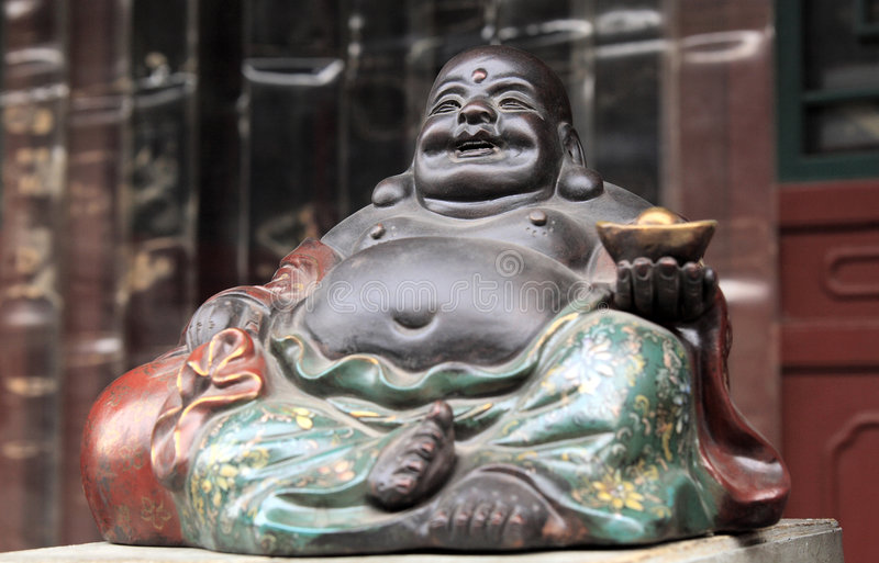 Le För Buddha Framsida Royaltyfri Fotografi