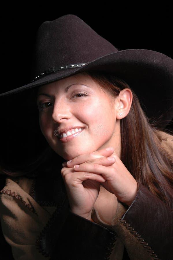 le för cowgirl royaltyfri fotografi