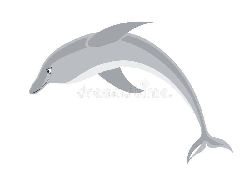 le för delfin stock illustrationer