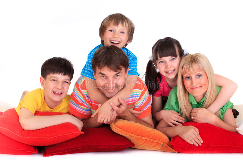 le för familj royaltyfri fotografi