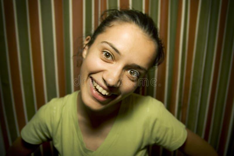 le för flicka arkivbild