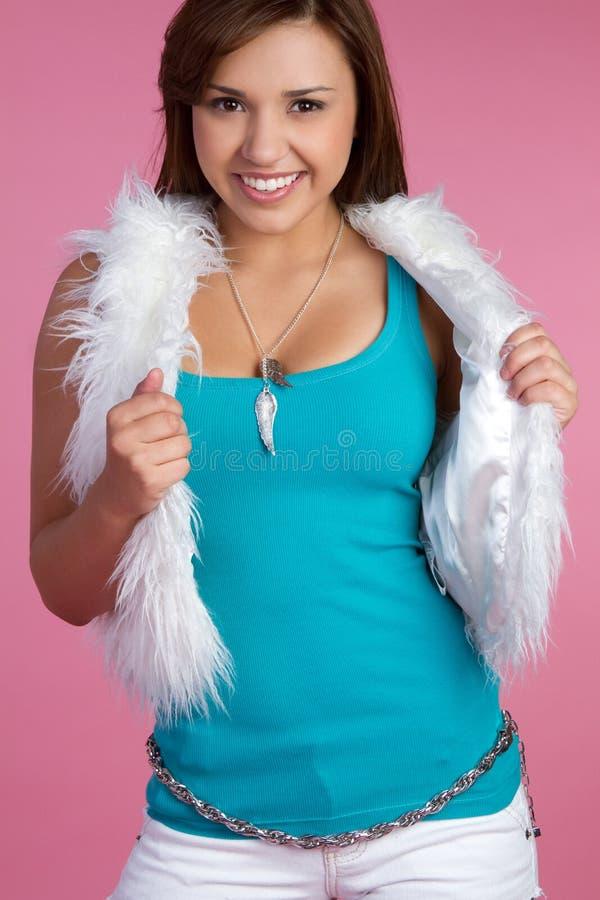 le för flicka som är teen royaltyfri bild