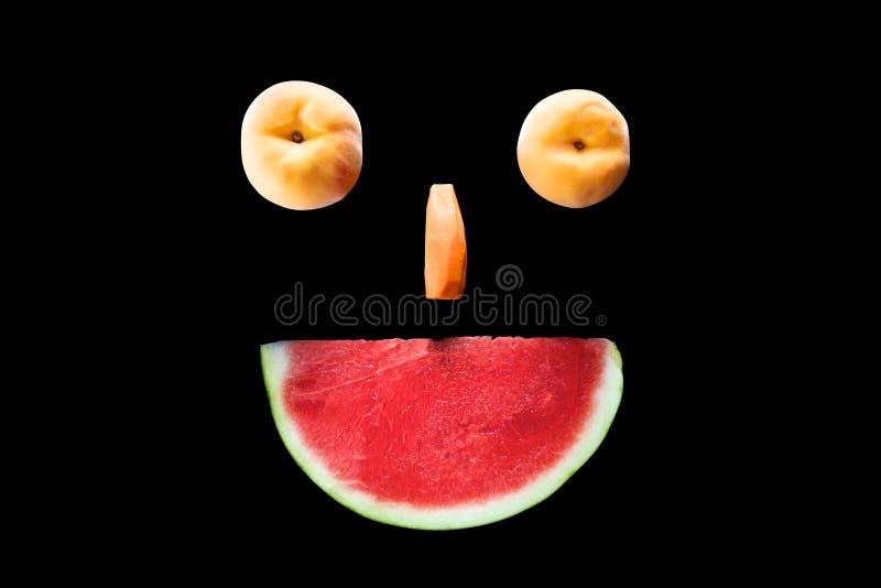 Le för fruktframsida arkivbilder