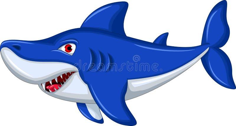 Le för hajtecknad film vektor illustrationer