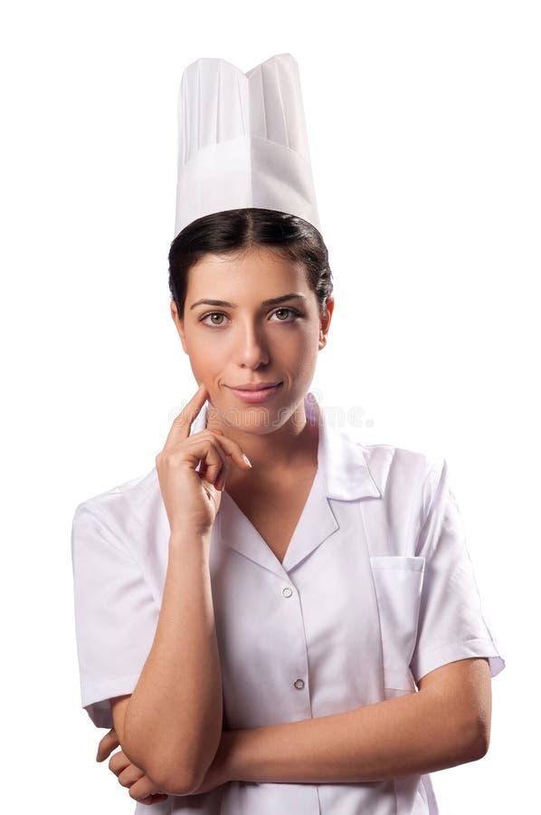 le för kockkvinnlig royaltyfri fotografi