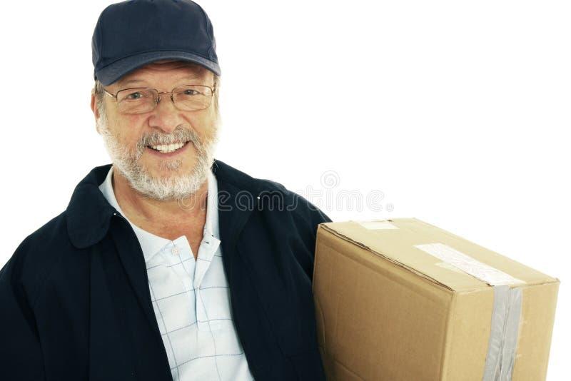 le för leveransman arkivfoton