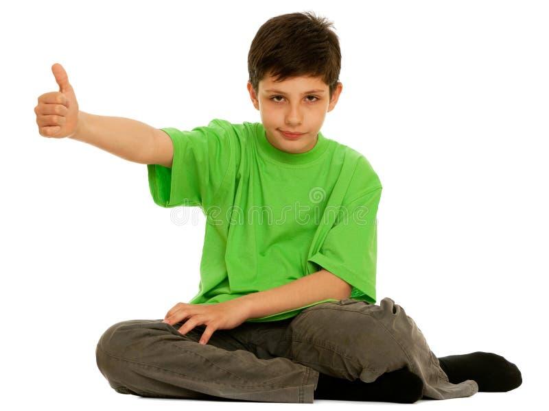 le för pojkegreen royaltyfria bilder