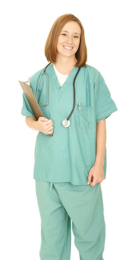 le för sjuksköterska för look för holding för brädekameragem royaltyfri fotografi