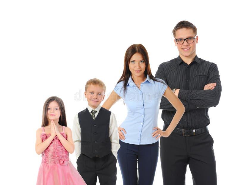 le för stående för familj lyckligt fotografering för bildbyråer