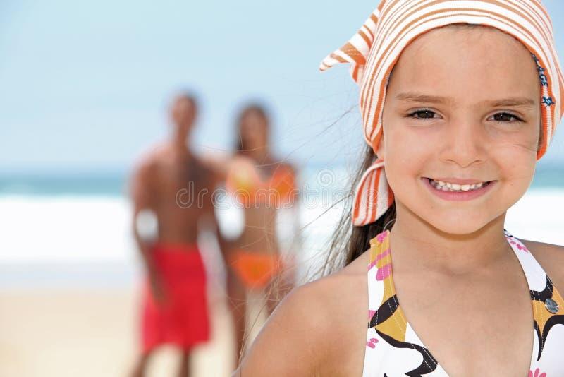 Le för ung flicka royaltyfria bilder