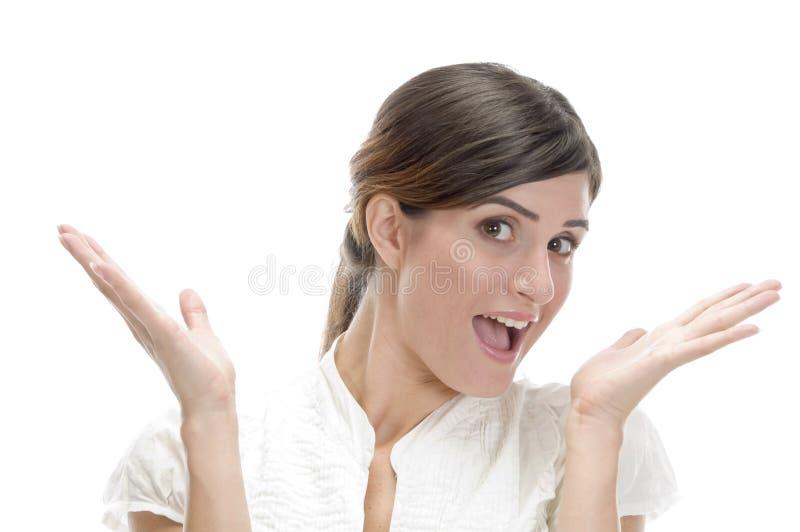 le förvånad kvinna fotografering för bildbyråer