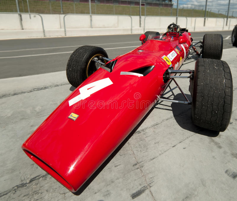 Le F1 Ferrari de l'Amon de Chris photos libres de droits
