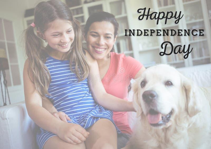 Le familjen för självständighetsdagen royaltyfri bild