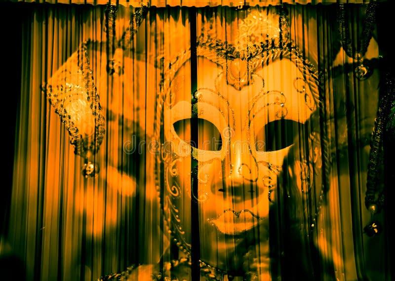 Le fantôme masqué du travail images libres de droits
