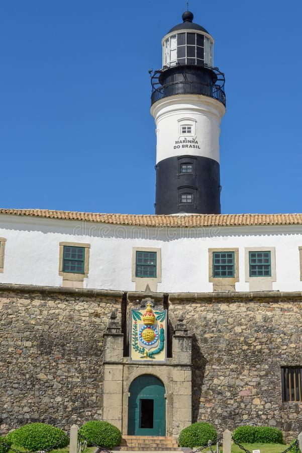 Le Farol historique DA Barra Barra Lighthouse en Salvador Bahia, Brésil photo libre de droits