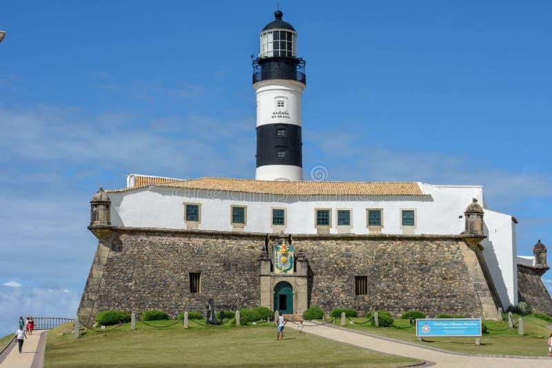 Le Farol historique DA Barra Barra Lighthouse en Salvador Bahia, Br?sil photo libre de droits