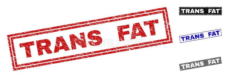 Le FAT de transport grunge a rayé des filigranes de rectangle illustration stock