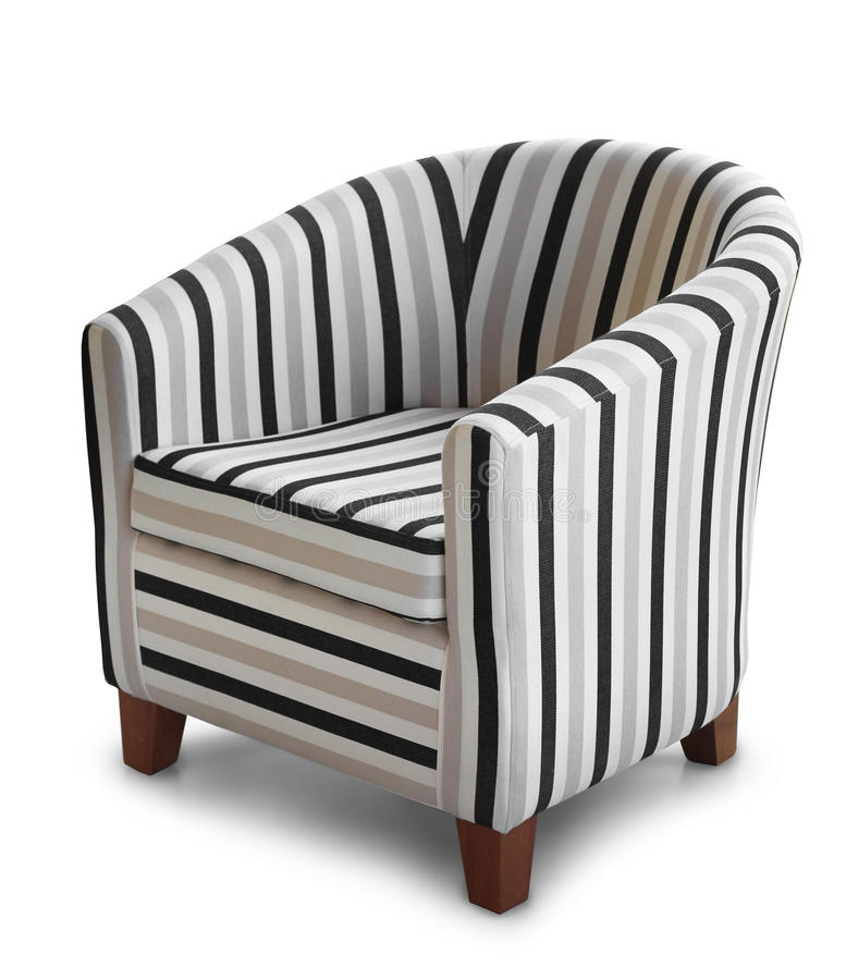 Le fauteuil confortable a isolé image stock