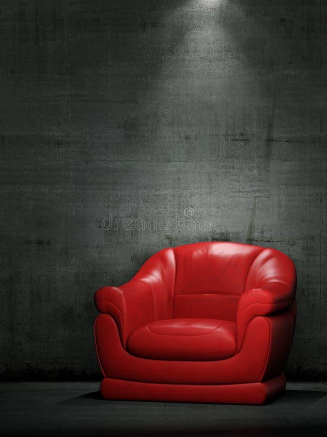 Le fauteuil rouge illustration stock