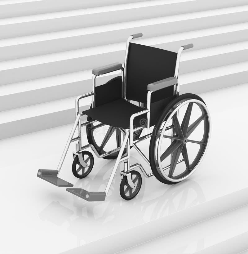 Le fauteuil roulant illustration libre de droits