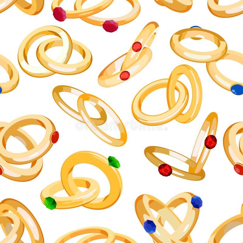 Le fedi nuziali vector i gioielli stabiliti dell'argento dell'oro di simbolo di impegno per il matrimonio di proposta wed il segn royalty illustrazione gratis
