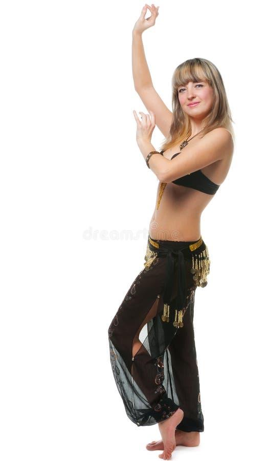 Le femme dans le procès de danse est images libres de droits