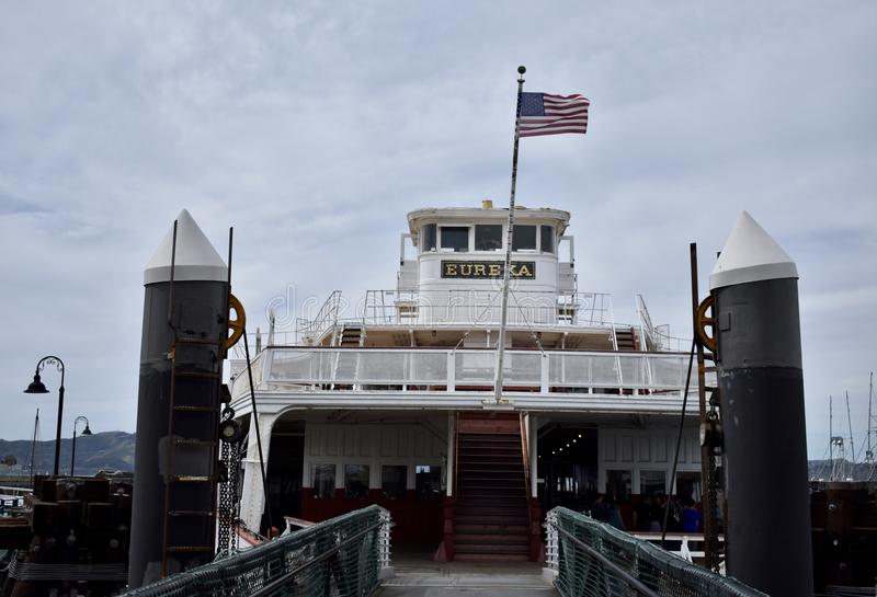 Le ferry d'Eureka a relié Marin à San Francisco, 1 photos stock