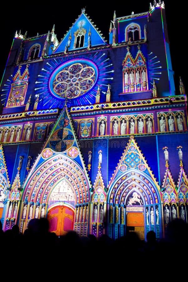 le festival 2008 allume Lyon photo libre de droits