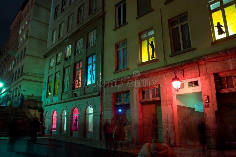 le festival 2008 allume Lyon image libre de droits