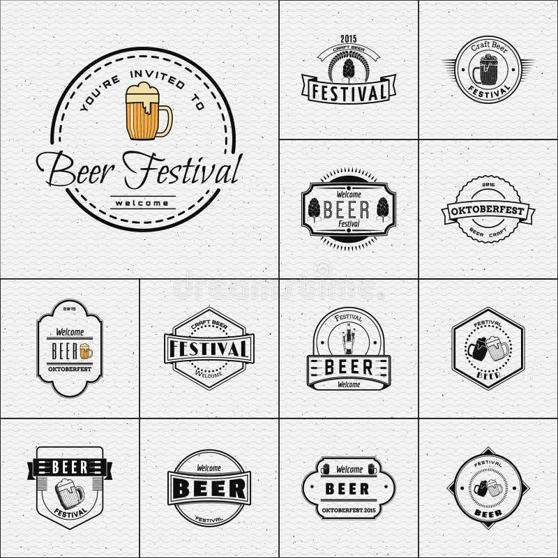 Le festival de bière badges des logos et des labels pour utilisation illustration libre de droits