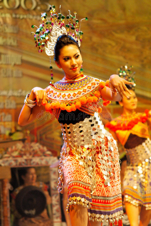 Le festival de Dayak de Gawai image stock