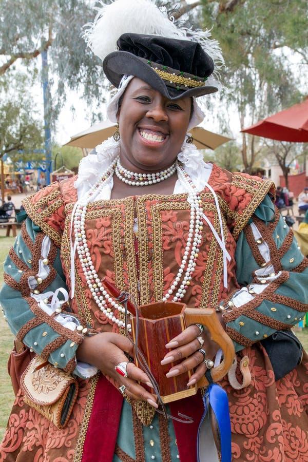 Le festival de la Renaissance de l'Arizona a costumé le caractère photos libres de droits