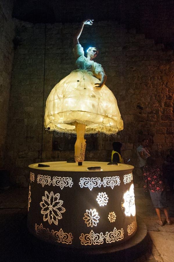 Le festival de lumière de Jérusalem photo stock