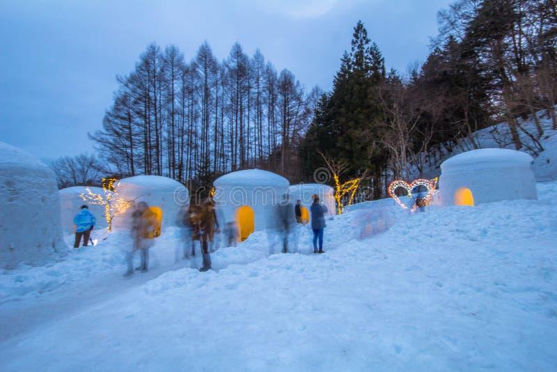 Le festival de Yunishigawa Kamakura à Nikko au Japon image libre de droits
