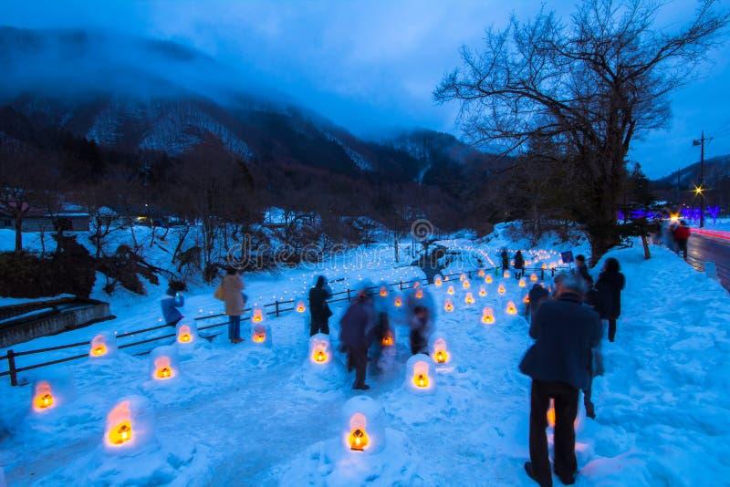 Le festival de Yunishigawa Kamakura à Nikko au Japon images libres de droits