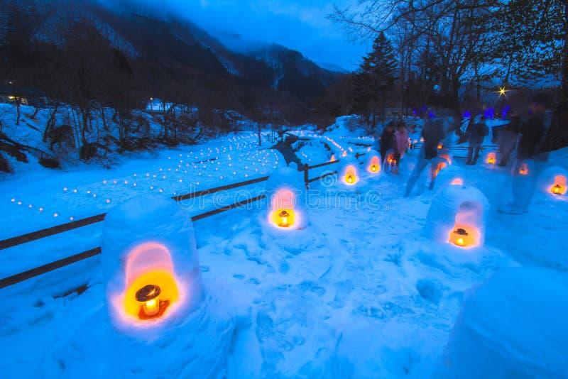 Le festival de Yunishigawa Kamakura à Nikko au Japon photo stock