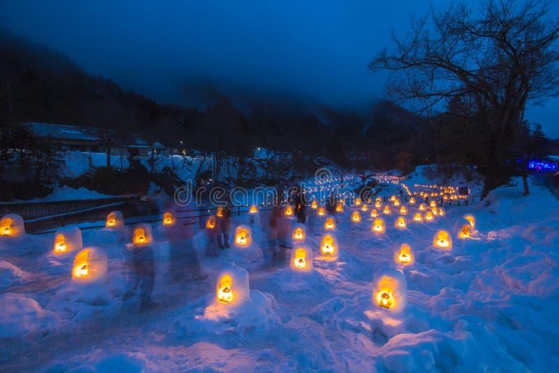 Le festival de Yunishigawa Kamakura à Nikko au Japon photographie stock libre de droits
