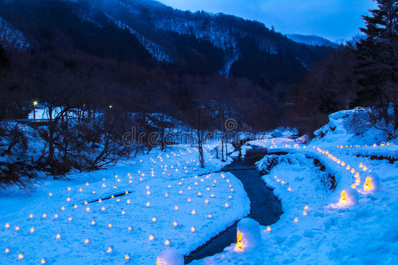 Le festival de Yunishigawa Kamakura image libre de droits