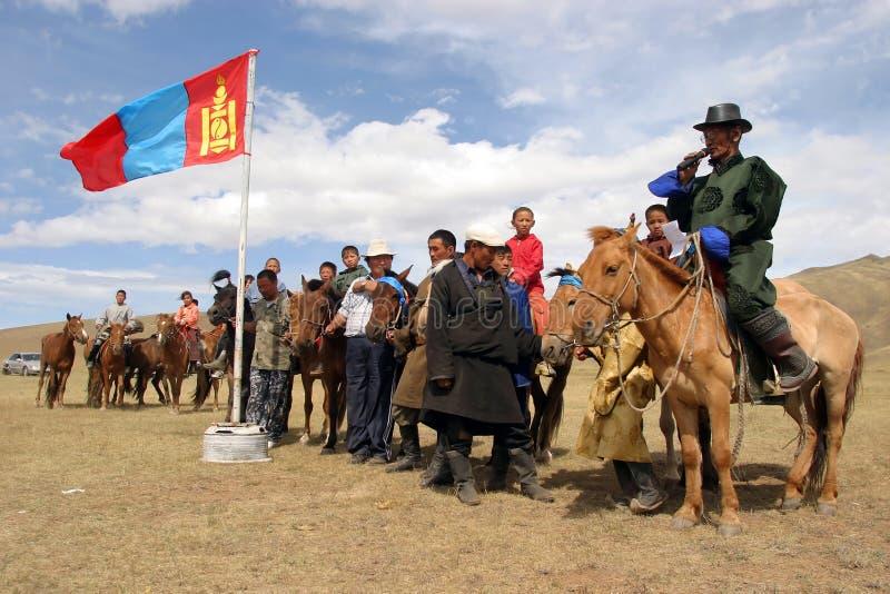 Le FESTIVAL GRAND de NAADAM photos libres de droits