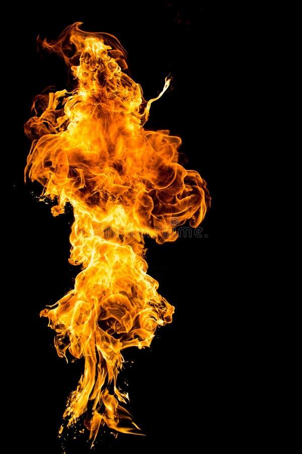 Le feu à l'arrière-plan noir photos stock