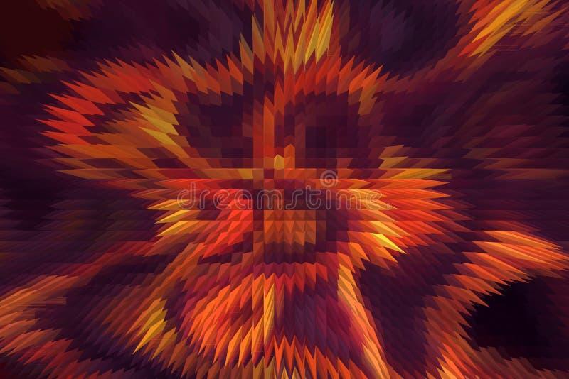 Download Le Feu Abstrait Flambe Sur Un Fond Noir Et Violet Et Effet De Pyramide Illustration Stock - Illustration du cuisine, enfer: 56487157