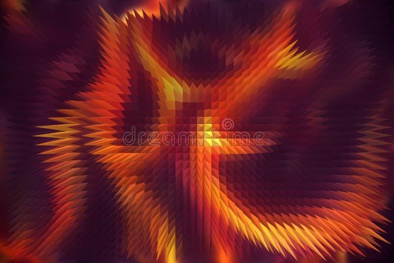 Download Le Feu Abstrait Flambe Sur Un Fond Noir Et Violet Et Effet De Pyramide Illustration Stock - Illustration du conception, ardemment: 56487323