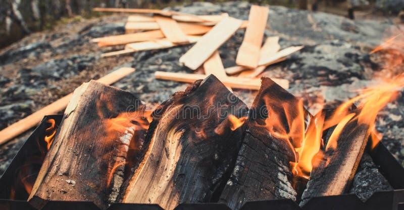 Le feu calme photo stock