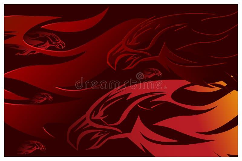 Le feu d'Eagle illustration stock