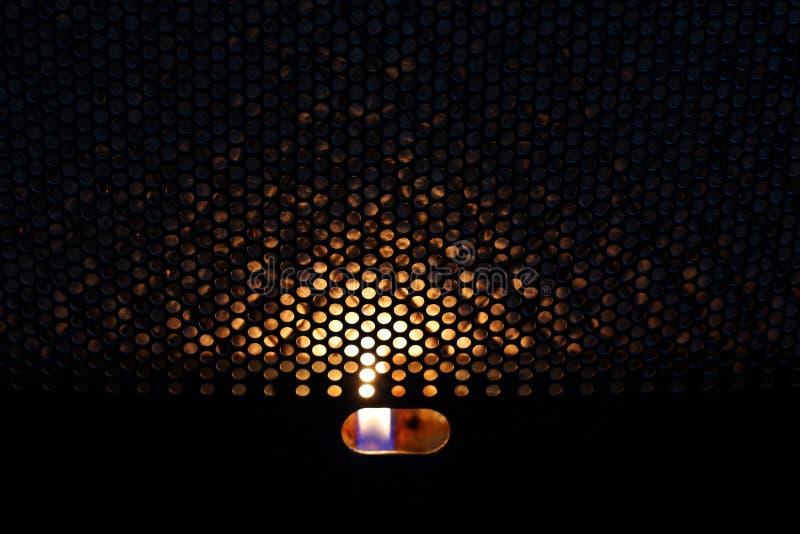 Le feu dans le convecteur heat image libre de droits