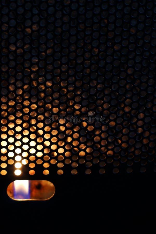 Le feu dans le convecteur heat photos libres de droits